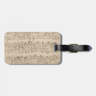 Viejas notas de la música - hoja de música de Bach Etiquetas De Maletas