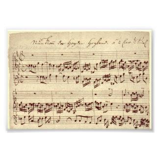 Viejas notas de la música - hoja de música de Bach Fotografía