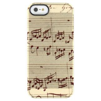 Viejas notas de la música - hoja de música de Bach Funda Clearly™ Deflector Para iPhone 5 De Uncommon