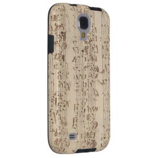 Viejas notas de la música - hoja de música de Bach Funda Galaxy S4