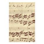 Viejas notas de la música - hoja de música de Bach Papeleria De Diseño