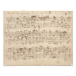 Viejas notas de la música - hoja de música de Bach Arte Fotográfico
