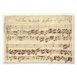 Viejas notas de la música - hoja de música de Bach Arte Fotografico
