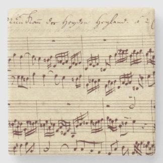 Viejas notas de la música - hoja de música de Bach Posavasos De Piedra