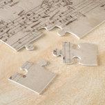 Viejas notas de la música - hoja de música de Bach Rompecabeza Con Fotos