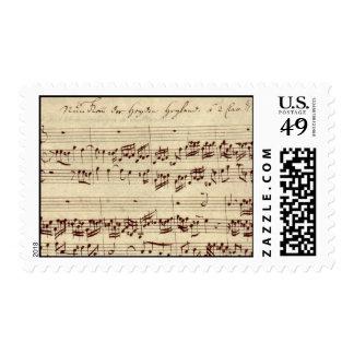 Viejas notas de la música - hoja de música de Bach Envio