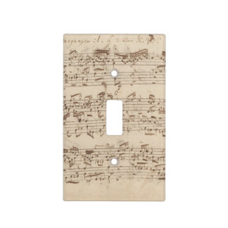 Viejas notas de la música - hoja de música de Bach Tapa Para Interruptor