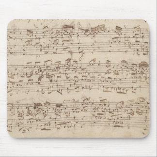 Viejas notas de la música - hoja de música de Bach Alfombrilla De Raton