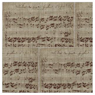 Viejas notas de la música - hoja de música de Bach Telas