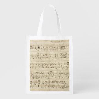 Viejas notas de la música - hoja de música de bolsa de la compra
