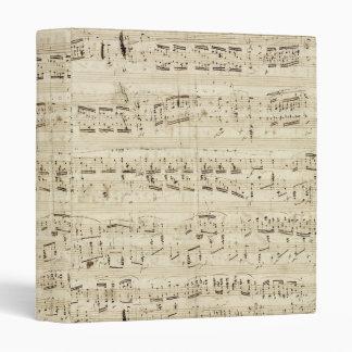 "Viejas notas de la música - hoja de música de carpeta 1"""