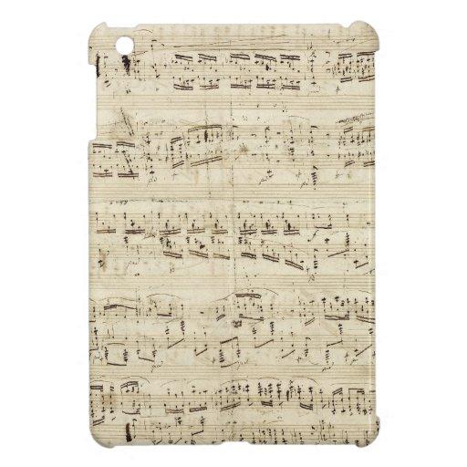 Viejas notas de la música - hoja de música de Chop