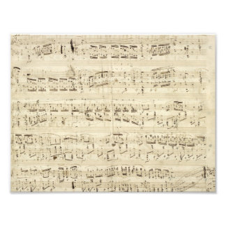 Viejas notas de la música - hoja de música de Chop Cojinete