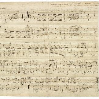Viejas notas de la música - hoja de música de Chop Escultura Fotográfica