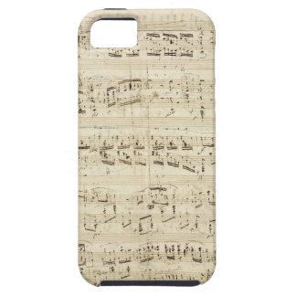 Viejas notas de la música - hoja de música de Chop iPhone 5 Cárcasas