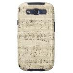 Viejas notas de la música - hoja de música de Chop Galaxy SIII Protectores