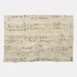Viejas notas de la música - hoja de música de Chop Toallas De Mano