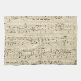 Viejas notas de la música - hoja de música de Chop Toalla
