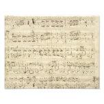 Viejas notas de la música - hoja de música de Chop Arte Con Fotos