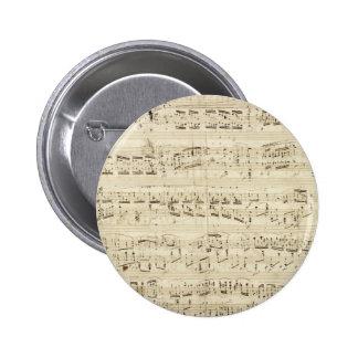 Viejas notas de la música - hoja de música de Chop Pin