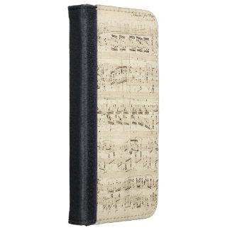 Viejas notas de la música - hoja de música de funda cartera para iPhone 6