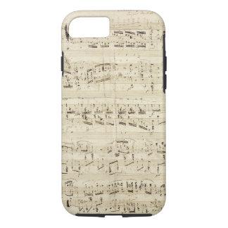 Viejas notas de la música - hoja de música de funda iPhone 7