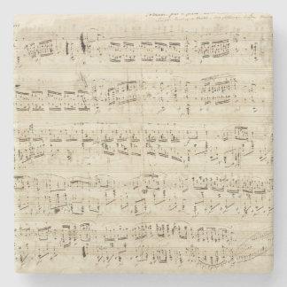 Viejas notas de la música - hoja de música de posavasos de piedra
