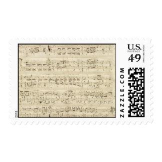 Viejas notas de la música - hoja de música de envio
