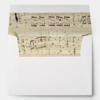 Viejas notas de la música - hoja de música de sobres