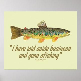 Viejas palabras de la pesca impresiones