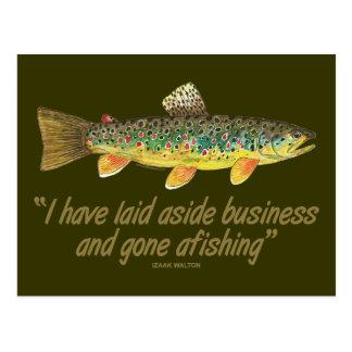 Viejas palabras de la pesca postal