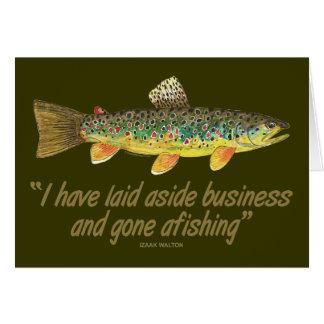 Viejas palabras de la pesca tarjeta de felicitación