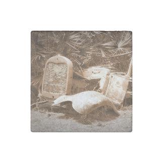 Viejas piezas imán de piedra