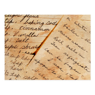 viejas recetas de la familia postal