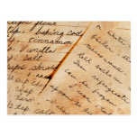viejas recetas de la familia postales