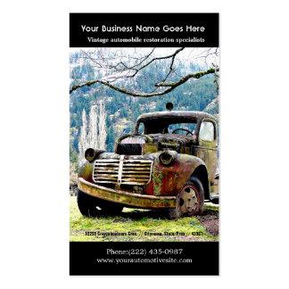 Viejas reparaciones del camión - foto del auto del tarjetas personales