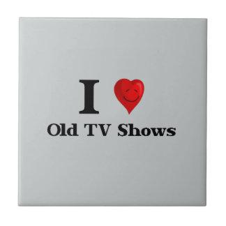 Viejas showes televisivo del amor azulejo cuadrado pequeño