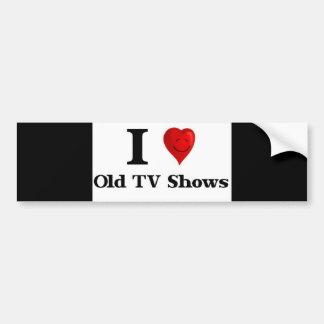 Viejas showes televisivo del amor pegatina para auto