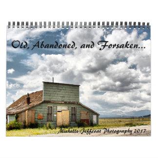 Viejo, abandonado, y abandonado calendario