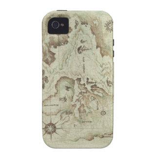 Viejo ambiente de Mapamundi 4 4S Case-Mate iPhone 4 Fundas