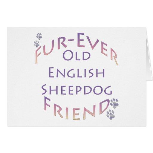 Viejo amigo inglés de la Piel-nunca del perro past Felicitación