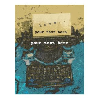 """Viejo amor de la máquina de escribir… folleto 8.5"""" x 11"""""""