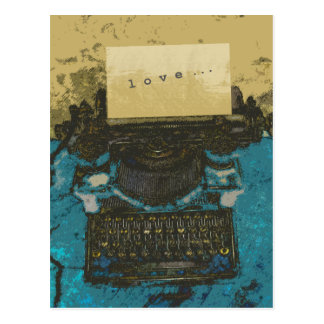 Viejo amor de la máquina de escribir… postal