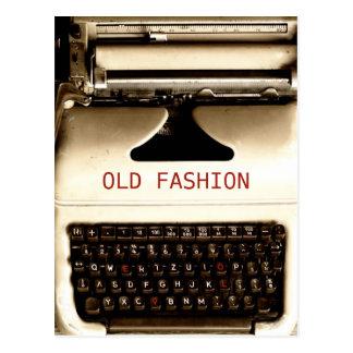 Viejo amor de la moda - máquina de la máquina de tarjeta postal