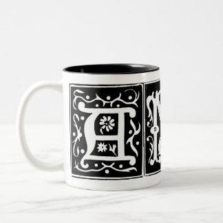 Viejo AMY adaptable de la taza del nombre de letra