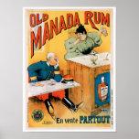 Viejo arte del anuncio de la bebida del vintage de impresiones