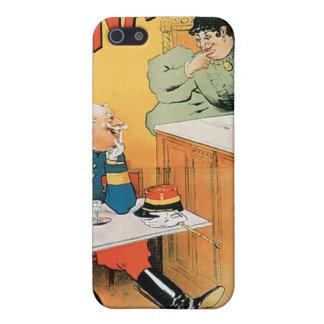 Viejo arte del anuncio de la bebida del vintage iPhone 5 funda