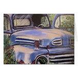 Viejo arte del camión del vintage tarjetón