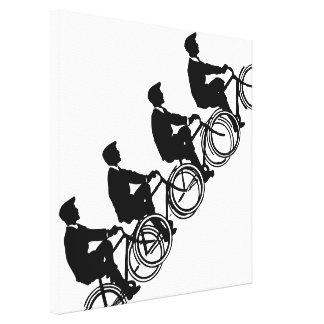 Viejo ARTE del paseo de los ciclistas de las Impresiones De Lienzo