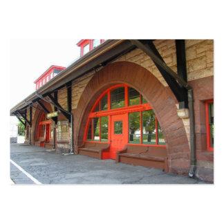 Viejo ATC del ~ de la estación de tren Tarjetas De Visita Grandes